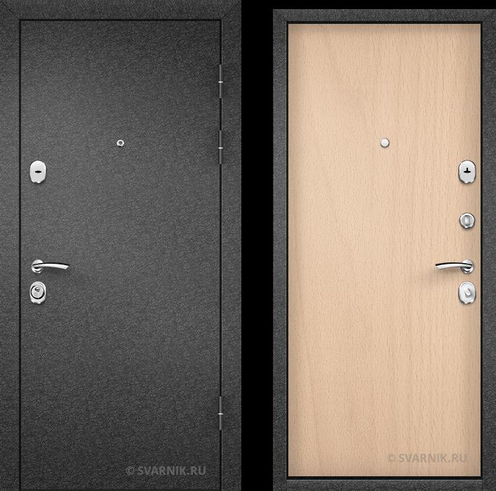 Дверь металлическая с шумоизоляцией на дачу порошковая - ламинат
